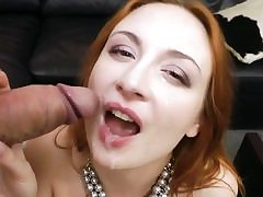 Jaw-dropping sandy-haired stunner in hard-core cumpilation